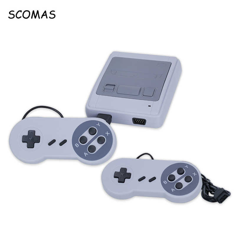 SCOMAS 8 Bit Super MINI Klasik Genggam Game Player Keluarga Built-In 400 Permainan AV TV Video Konsol Game Retro Childhood Out