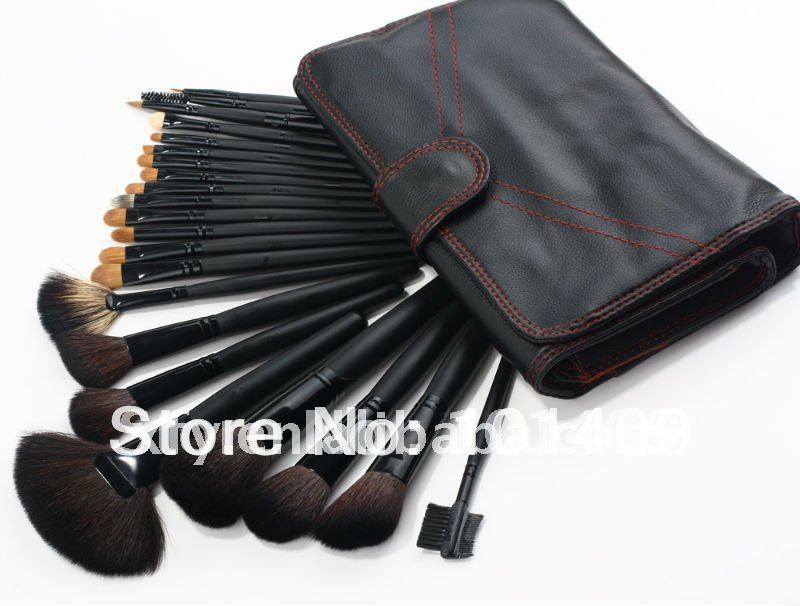 ISMINE 22 Pcs Goat hair New High Quality and Hot Sell Professional Cosmetic Brushes Black make up brush