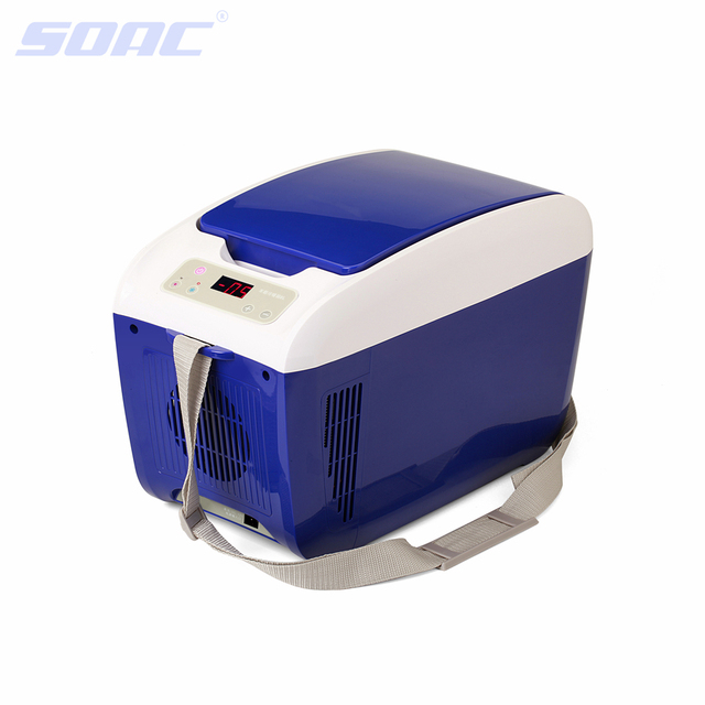12V 8L Newest Blue Auto Supplies Car Refrigerator Portable Cooler Box Car Fridge for Camping Travel Personal Fridge CE RoHS