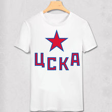 KHL League T Shirt Lokomotiv Yaroslavl Ak Bars Kazan Dinamo Riga Moscow Club Team Logo Print T-shirt(China)