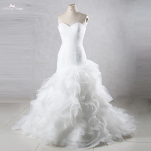 TW0195 Mermaid Princess Wedding Dresses With Ruffled Skirt Cheap Wedding Dresses Made In China