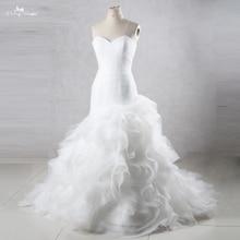 TW0195 حورية البحر الأميرة فساتين الزفاف مع تكدرت تنورة رخيصة فساتين الزفاف صنع في الصين
