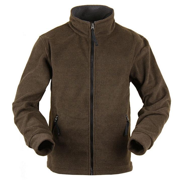 Aliexpress.com : Buy Men fleece jacket Brown coat breathable top ...