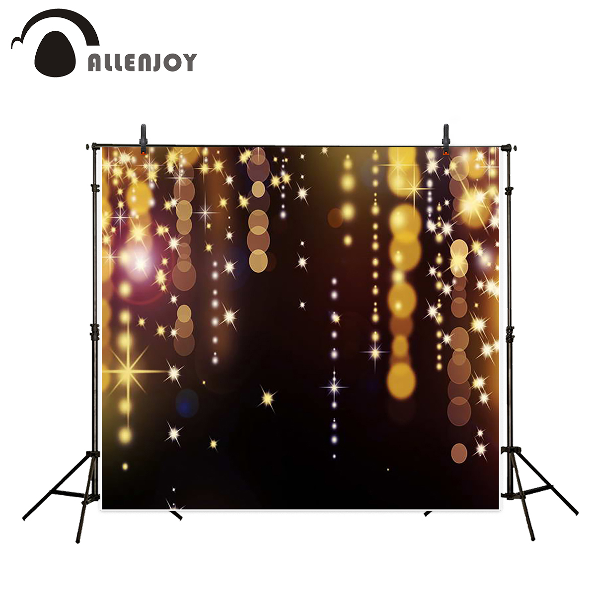 Allenjoy photographic background glitter gold black dots birthday backdrops professional photographic photo studio