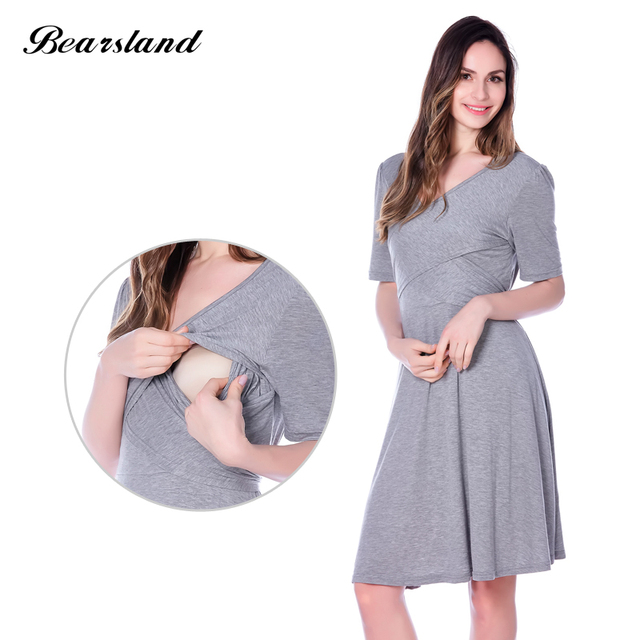 4a15bfe934026 maternity dresses Breastfeeding Nursing Dress Cross-way Style maternity  evening dresses summer New Arrival