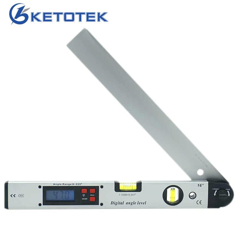 0-225 degrés Numérique Angle Level Meter Gauge 400mm 16 pouces Électronique Rapporteur livraison gratuite