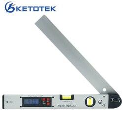 0-225 graus digital ângulo medidor de nível 400mm 16 polegada eletrônico transferidor frete grátis