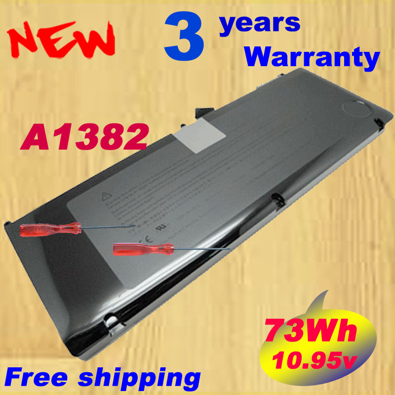 A1382 battery for Apple Macbook pro unibody 15(A1286) MB985LLA,MB986LLA A1321 laptop