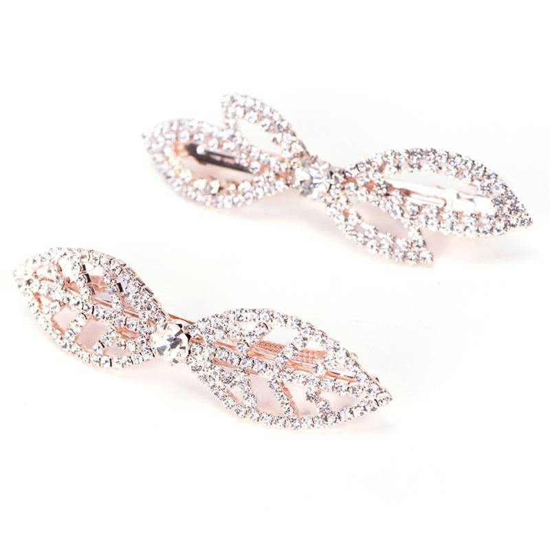 bow hairpin rhinestone clip Korean style hair accessory clip spring clip hair accessory jewelry Accessories