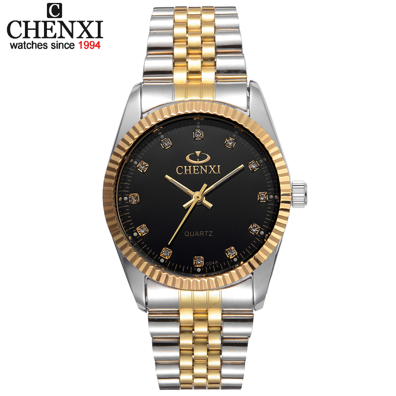 Best Couple New CHENXI Steel Band quartz watch men and women watches fashion lovers watches Women's dress watch free shipping muhsein hot sellingnew lovers quartz watches stainless steel watch business women dress watches for couples free shipping