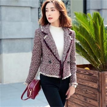 15539d209 Blazers y chaqueta de mujer otoño nuevo traje corto de gama alta blusa de  tweed chaquetas abrigo de mujer
