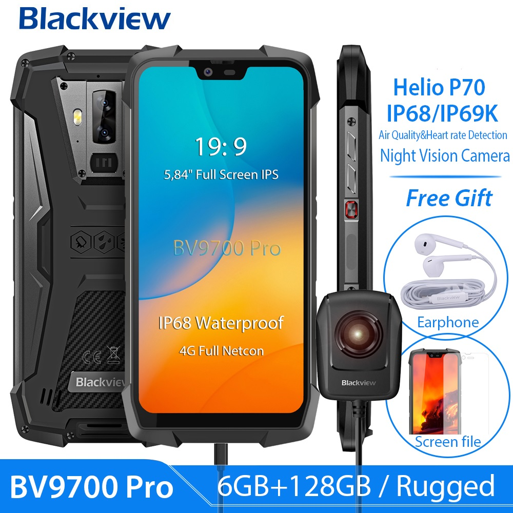 Blackview BV9700 Pro IP68 128GB 6GB GSM/WCDMA/LTE NFC Adaptive Fast Charge Wireless Charging