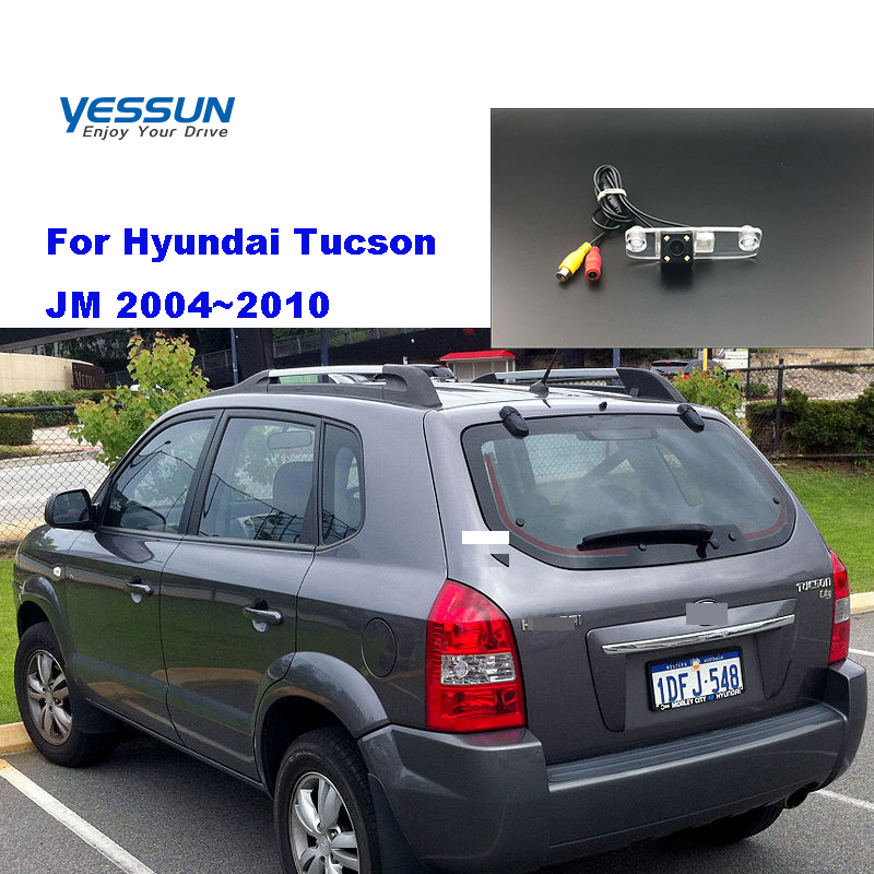 For Hyundai Tucson JM 2004 2005 2006 2007 2008 2009 2010 Car Rear View Camera  Parking Assistance License Plate Camera Backup