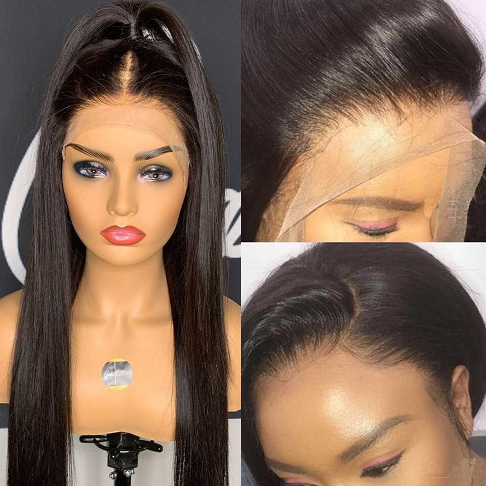 Pelucas frontales de encaje 360 de 6 pulgadas para mujer pelo Remy brasileño recto 150% pelucas de cabello humano Frontal de encaje con el pelo del bebé