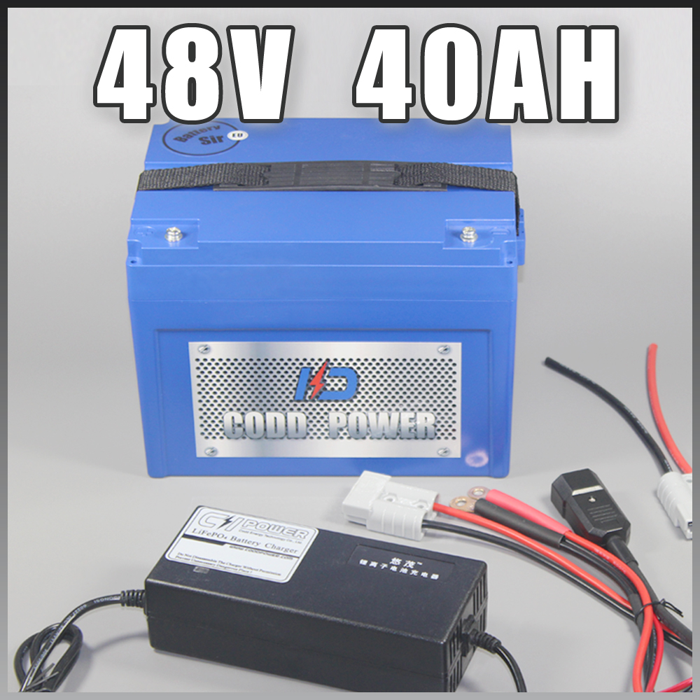 <font><b>48V</b></font> <font><b>40AH</b></font> Electric Scooter <font><b>Lithium</b></font> ion <font><b>Battery</b></font> with ABS Case For 3000W Ebike image