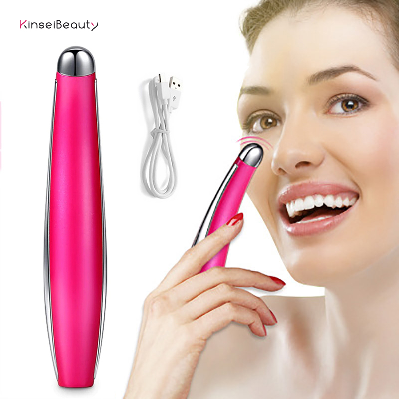 Electric Vibration Eye Massager Anti Aging Face Lifting Vibrator Wrinkle Removal Dark circle Massage Rejuvenation Beauty Stick in Face Skin Care Tools from Beauty Health