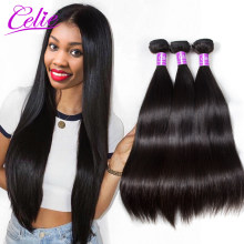 brazilian virgin hair straight grace brazilian hair weave bundles weft extension with closure(China)