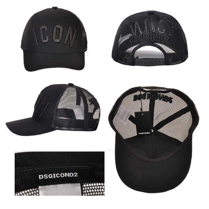 DSQICOND2 DSQ Ricamo Logo ICONA Lettere Cotone Cappellini da Baseball Cap di Alta Qualità Delle Donne Degli Uomini di Disegno del Cliente Del Cappello Nero Cappello Papà