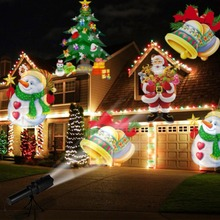 OurWarm Christmas Laser Snowflake Projector Outdoor LED Waterproof Lights Home Garden Star Light Indoor Decoration With 12 Cards недорого