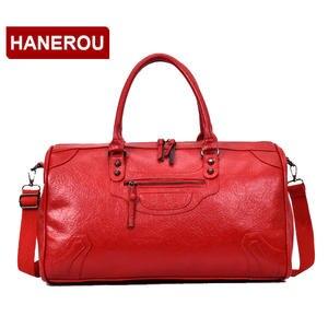 HANEROU Men Women Duffel Bag Travel Tote Large Weekend Bag 30053e862c