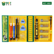 BST-8921 38 in 1 High quality Screwdriver Set Opening mobile phone Pry Repair Tool kit for iPhone iPad Android Tablet PC Laptop