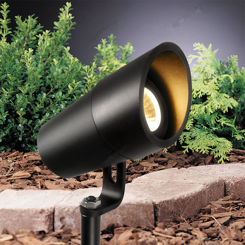 3W LED Garden Light IP67 Waterproof Aluminum Lawn Light DC12-24V Landscape Lighting Outdoor Grass Spotlight 12storeez платье рубашка на поясе изо льна темно коричневое