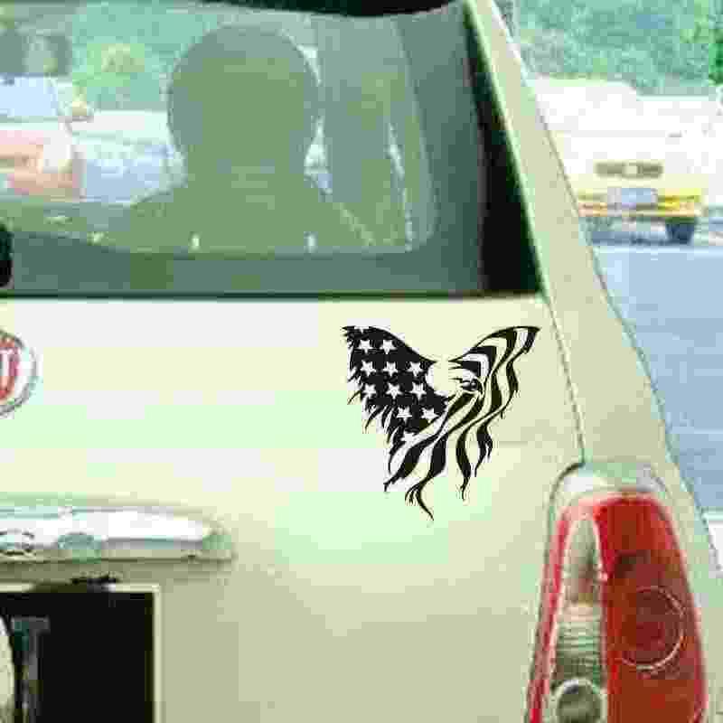 Pegatina американский флаг орла стекло автомобиля грузовика веселый автомобиль окно наклейка на бампер виниловая наклейка грузовика