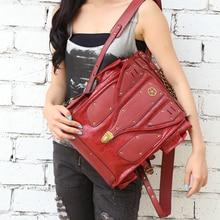 Стали Мастер-2016 новые продукты стимпанк рюкзак женский личности моды В Европе и Америке ретро рок женщины рюкзак прилива