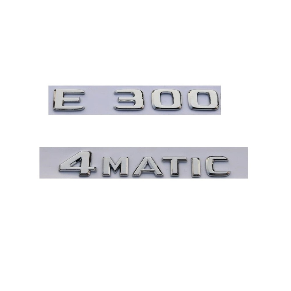 "2018 Chrome /""E300/"" Logo Rear Trunk Emblem Decal Badge For Mercedes Benz E-Class"