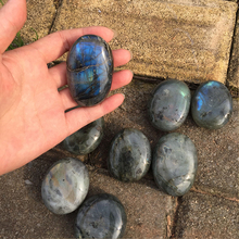 Moonstone-Pendant Sunlight Glitter Reliever Natural 4-5cm Massage Labradorite-Stone Stone-Stress