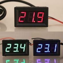 """0,5"""" DS18B20 цифровой термометр водонепроницаемый датчик температуры зонд DC 12 В 24 В"""