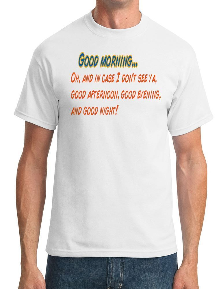 Good morning - - The Truman Show Movie Inspired Mens T-Shirt