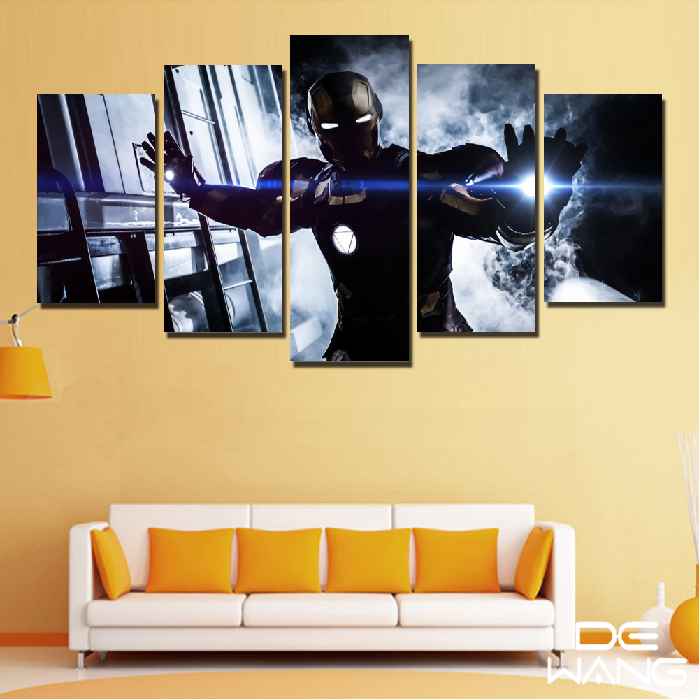 Captain America Painting For Kids Room Wall Art Decor Iron Man ...