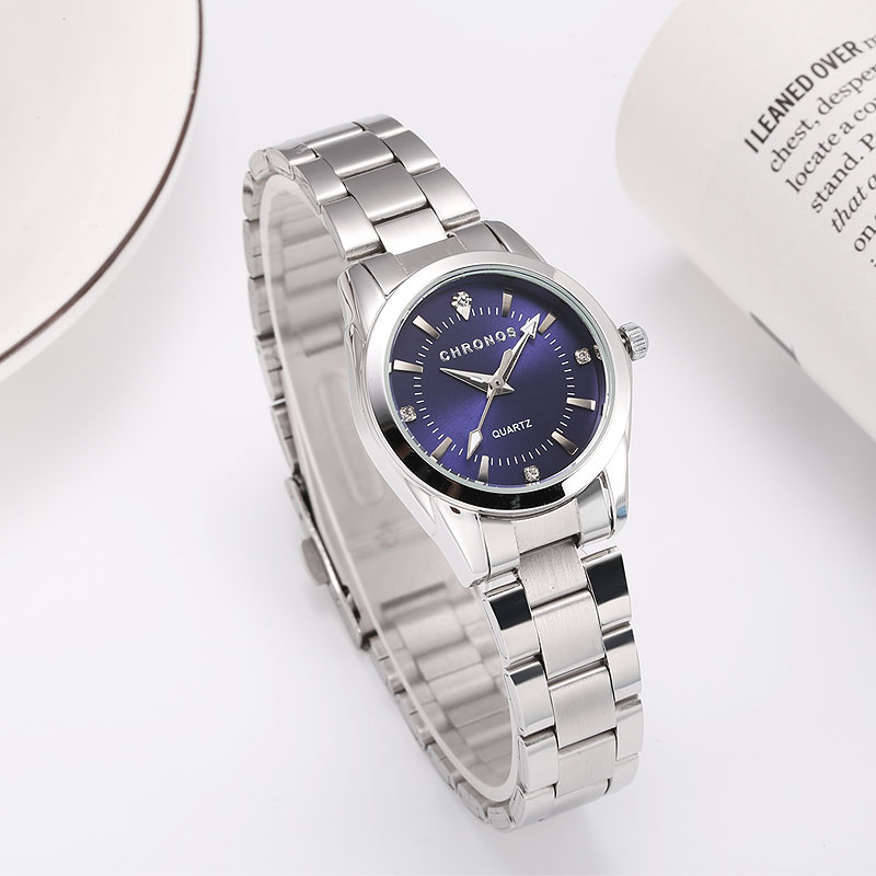 CHRONOS Women Luxury Rhinestone Stainless Steel Quartz Watches Ladies Business Watch Japanese Quartz Movement Relogio Feminino(China)