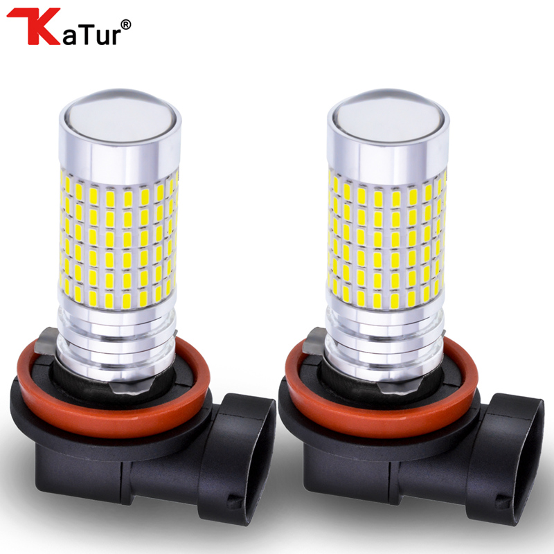 2pcs H8 H11 H16 JP 144SMD 3014 White LED Fog Lamp Daytime Running Light DRL 1500LM Driving Bulbs Used For Fog Lamp Driving Light boaosi 2x super white h8 h11 cree chip led fog light driving bulbs for bmw e39 325 328 m mini sport accessories