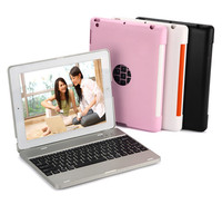 Wireless Bluetooth Keyboard Dock Stand Cover Case For Apple IPad 2 3 4 Tablet Built In