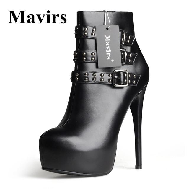 MAVIRS Brand Platform Damens Ankle Ankle Ankle Stiefel 2018 Spring Patent High 8845b4