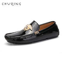 CHUQING New Leather Mens Dress Shoes Retro Casual Flat