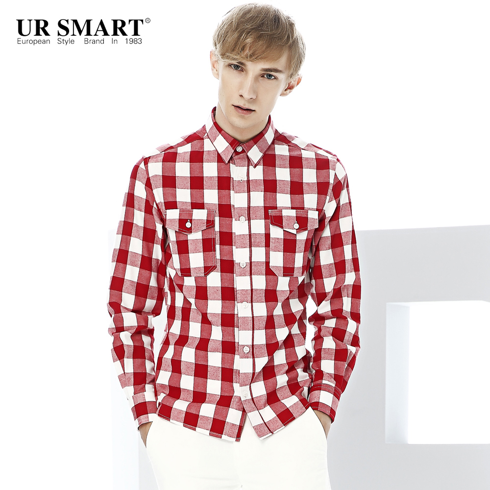 Red White Plaid Shirt Men Promotion-Shop for Promotional Red White ...