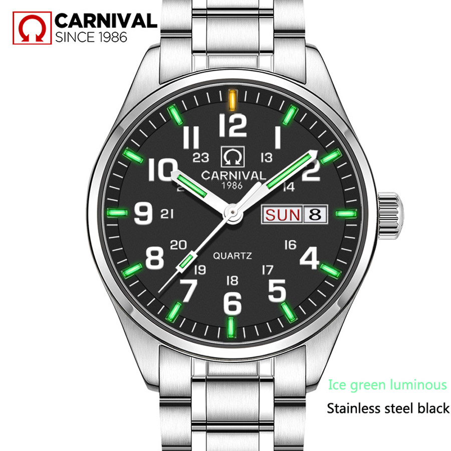 2017 Brand Luxury full stainless steel Watch Men Business Casual quartz Watches Tritium Luminous Military Wristwatch waterproof