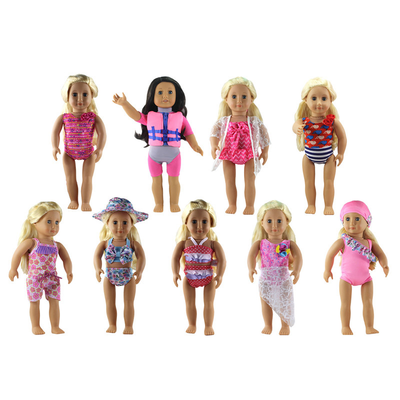 New 9 Styles of Doll Clothes Doll Bikini for 18 inch American Girl Doll Bikini Costumes American Girl Doll Clothes Accessories