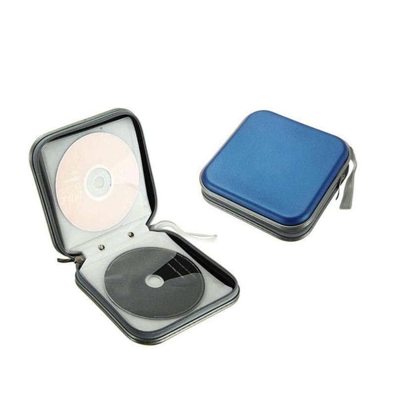 5 colors 40pcs Capacity Disc CD DVD Wallet Storage Organizer Case Holder Album Box Case Carry Pouch Bag with Zipper