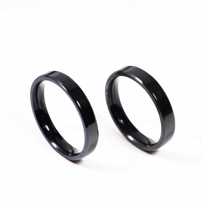 1Pc Tiny Thin 3mm Ring Men Women Titanium Black