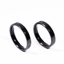 Mangosky 1pc minúsculo fino 3mm anel masculino feminino titânio preto