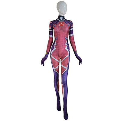 OW GAME D.VA cosplay Costume 3D Print dva White Rabbit SKIN  Bodysuit Female Girls Halloween D.va Cosplay Catsuit Lycra Suit