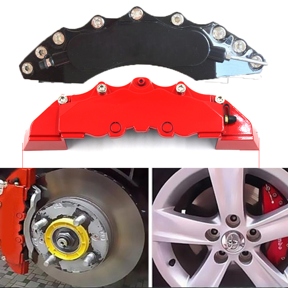 Gen 5//Camaro Gen 5//RS Silver Characters, Engraved Set of 4 MGP Caliper Covers 14240SCR5RD Red Powder Coat Finish Front and Rear Caliper Cover