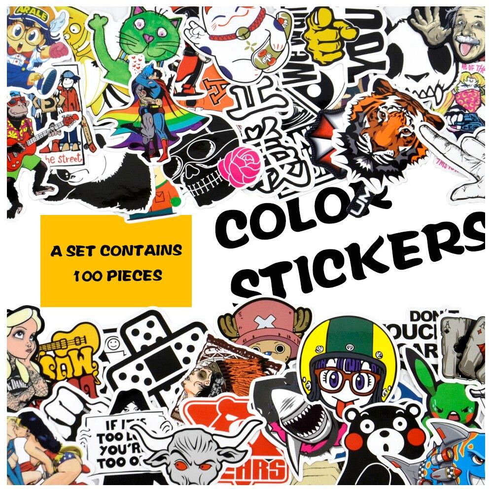 Klassische Spielzeug Aufkleber Das Beste 100 Pcs Cartoon Graffiti Stil Aufkleber Für Auto Fahrrad Motorrad Telefon Laptop Reise Gepäck Coole Lustige Aufkleber Bombe Jdm Decals