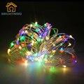10 M 100 LED Decoración de la Boda Luces Con Pilas de Vacaciones Decoración De Navidad Luces Del Partido Luces de Hadas de Cadena de Plata