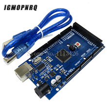 цена на 10pcs MEGA 2560 R3 ATmega2560 R3 AVR USB board + USB Cable for 2560 MEGA2560 R3