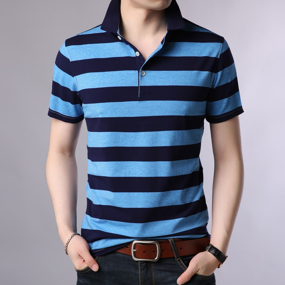 New 2019 Summer Mens   Polo   Shirt Male Contract Colors   Polos   Short Sleeve Striped Cotton   Polo   Shirts